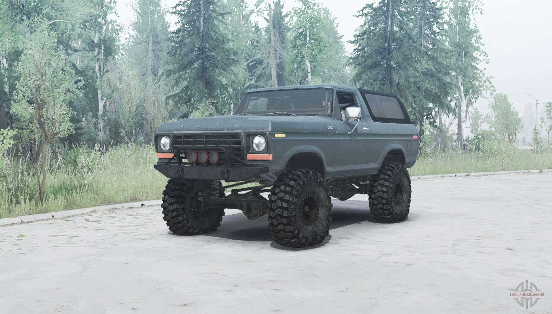 Ford Bronco Custom U150 1978 For Mudrunner