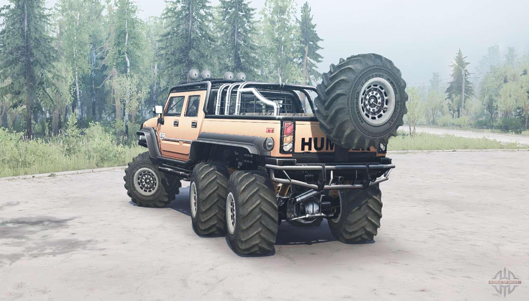 Truck Mud Tires >> Hummer H2 SUT 6x6 for MudRunner
