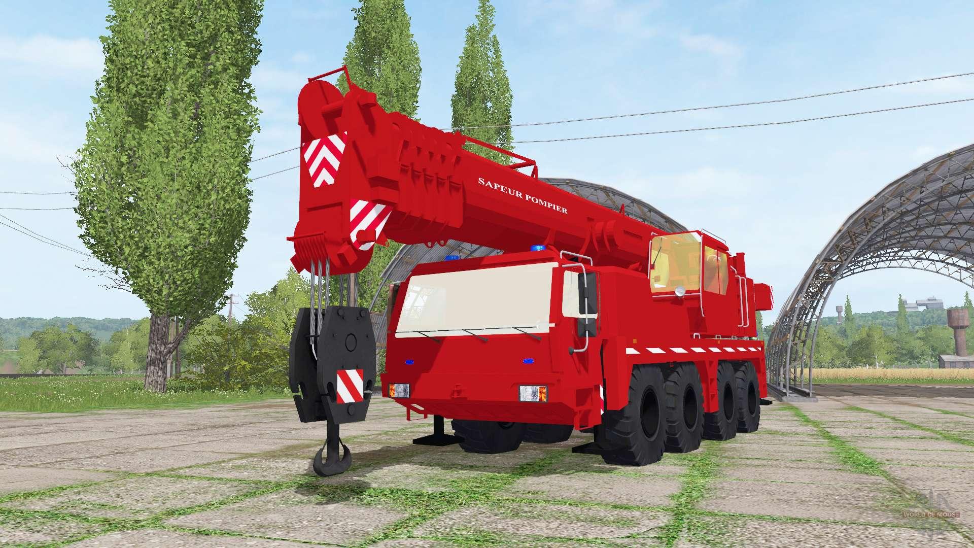 Liebherr LTM 1090-2 sapeur-pompier v2 0 for Farming