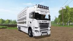 Scania R730 cattle transport for Farming Simulator 2017