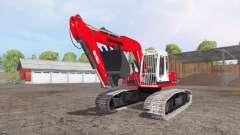Liebherr A 900 C Litronic red for Farming Simulator 2015