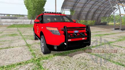Ford Explorer Limited (U502) fire department for Farming Simulator 2017