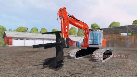 Hitachi ZX110 feller buncher for Farming Simulator 2015