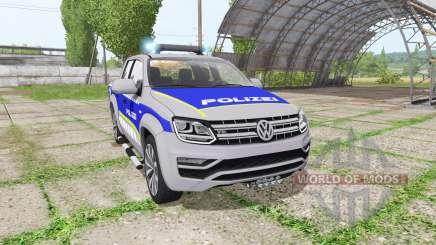 Volkswagen Amarok Double Cab polizei for Farming Simulator 2017
