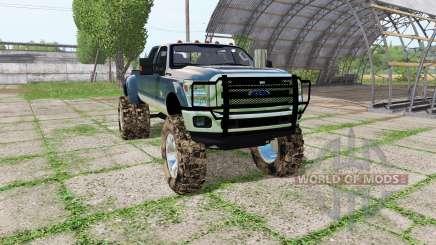 Ford F-350 Super Duty Crew Cab mud truck for Farming Simulator 2017