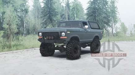Ford Bronco Custom (U150) 1978 for MudRunner