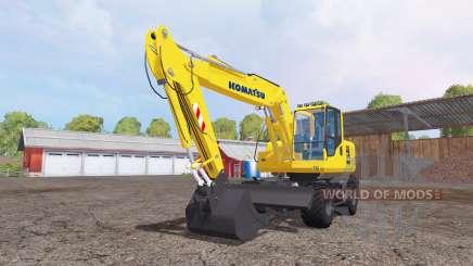 Komatsu PW160-7 for Farming Simulator 2015