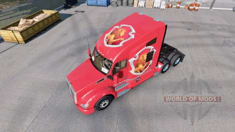 Skins Hogwarts Houses for the tractor Kenworth T680 for American Truck Simulator