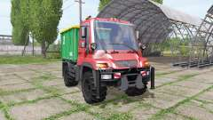 Mercedes-Benz Unimog U400 for Farming Simulator 2017