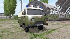 UAZ 3741 police of the GDR for Farming Simulator 2017