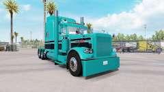 Скин Turquoise Black combo на Peterbilt 389