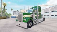 Skin Green Gold on the truck Kenworth W900 for American Truck Simulator