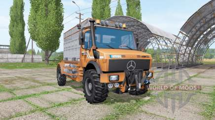Mercedes-Benz Unimog U1600 cattle transport for Farming Simulator 2017