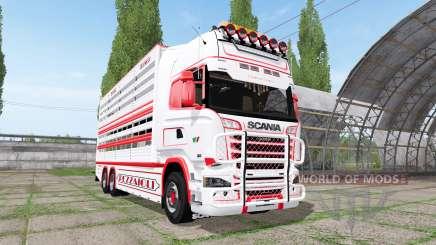 Scania R730 cattle transport v2.2 for Farming Simulator 2017