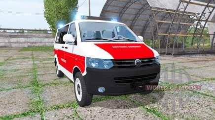 Volkswagen Transporter (T5) rettungsdienst for Farming Simulator 2017