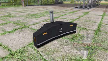 Ballast valve weight v1.2 for Farming Simulator 2017