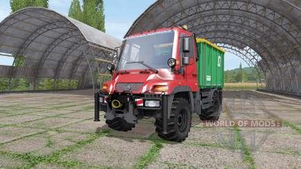 Mercedes-Benz Unimog U400 v1.1 for Farming Simulator 2017