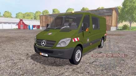 Mercedes-Benz Sprinter 211 CDI belgian army for Farming Simulator 2015