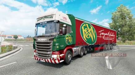 Painted truck traffic pack v3.3 for Euro Truck Simulator 2