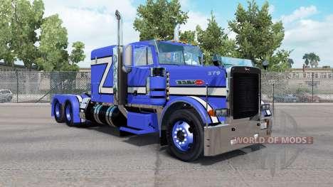 Skin Blue Rollin in the truck Peterbilt 379 for American Truck Simulator