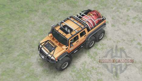 Hummer H2 6x6 for Spin Tires