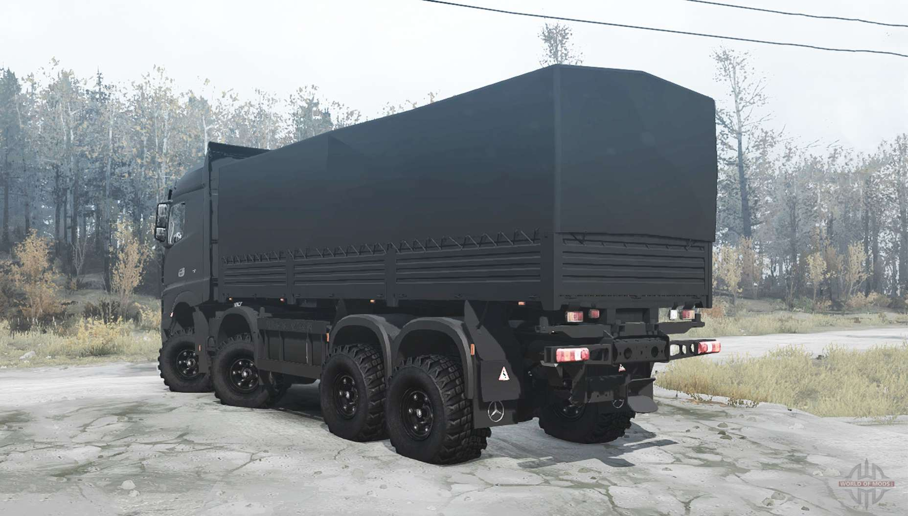 mercedes benz actros mp4 chassis 8x8 for mudrunner. Black Bedroom Furniture Sets. Home Design Ideas