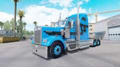 Skin Blue Black for tractor truck Kenworth W900