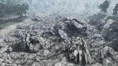 Rock valley landslide for MudRunner
