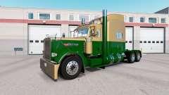 Skin Dark Gold Green on the truck Peterbilt 389 for American Truck Simulator