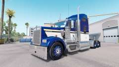 Skin Blue Yellow White for truck Kenworth W900
