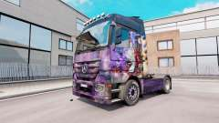 Skin Airbrush on truck Mercedes-Benz Actros MP3 for Euro Truck Simulator 2