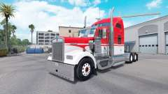 Skin White on Red tractor Kenworth W900