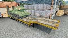 Semitrailer with cargo T-34-85 for Euro Truck Simulator 2