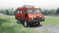 UAZ 3972 experienced 1990 6x6 v1.1 for Spin Tires