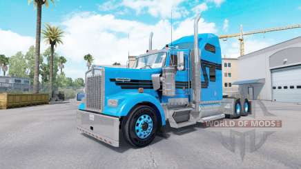 Skin Blue Black for tractor truck Kenworth W900 for American Truck Simulator