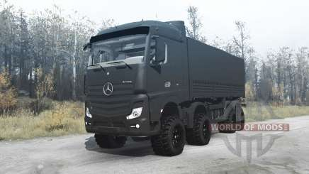 Mercedes-Benz Actros (MP4) chassis 8x8 for MudRunner