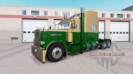 Skin Dark Gold Green on the truck Peterbilt 389 for American Truck Simulator