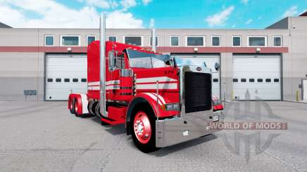 Skin Red on Rollin Transport Peterbilt 379 tractor for American Truck Simulator