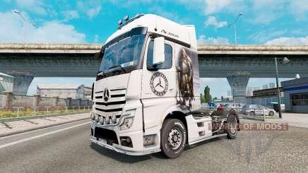 Скин Viking Warrior на Mercedes-Benz Actros MP4 for Euro Truck Simulator 2