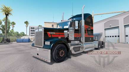 Skin Big Black on the truck Kenworth W900 for American Truck Simulator