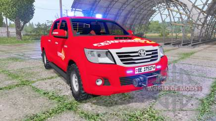 Toyota Hilux Double Cab 2011 feuerwehr v1.1 for Farming Simulator 2017