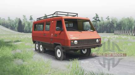 UAZ 3972 experienced 1990 6x6 for Spin Tires