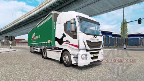 Painted truck traffic pack v4.5 for Euro Truck Simulator 2