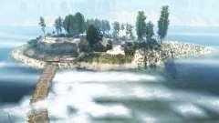 The coastline of the river