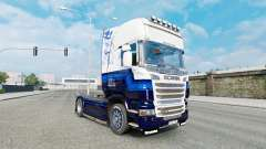 The Blue skin V8 truck Scania R-series for Euro Truck Simulator 2