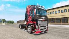 MSI Gaming skin for the Volvo FH truck series for Euro Truck Simulator 2
