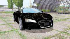 Audi R8 V10 Spyder 2012 Black Rift for Farming Simulator 2017