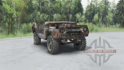 Rusty UAZ 469 v1.2 for Spin Tires