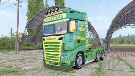 Scania R700 Evo John Deere v1.1 for Farming Simulator 2017