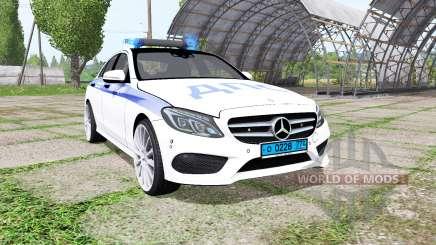 Mercedes-Benz C 250 AMG (W205) ДПС for Farming Simulator 2017